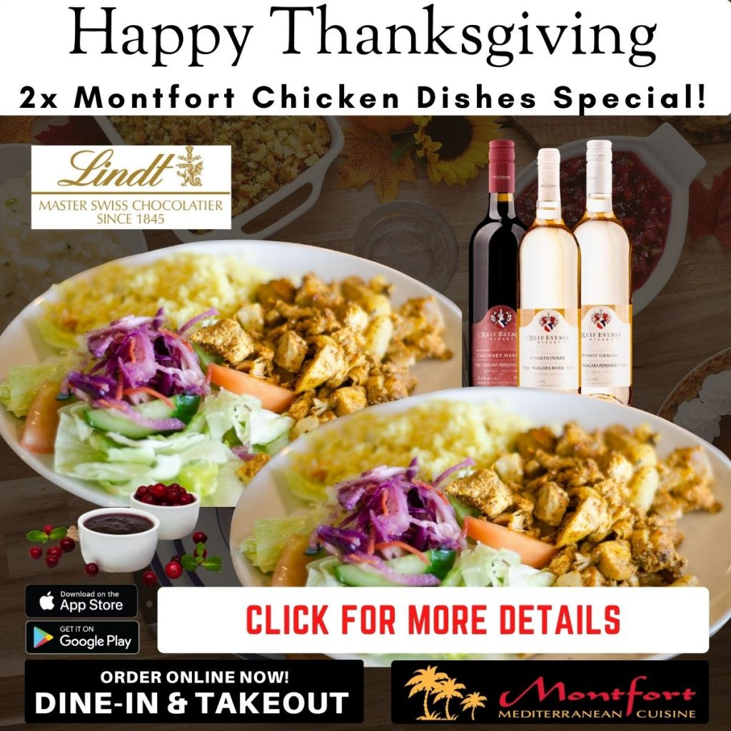 Montfort Oakville Mediterranean Cuisine - Thanksgiving Special